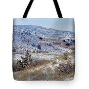 Little Missouri Winter Prairie Tote Bag