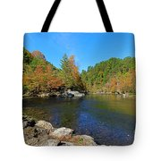Little River From Little River Gorge Road At Townsend Entrance Tote Bag