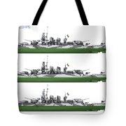 Littorio Class Battleships Port Side Tote Bag