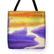 Living In The Sky Tote Bag