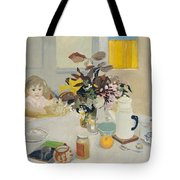 Lizzie At The Table  Tote Bag
