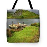 Llyn Y Dywarchen Boats Snowdonia Tote Bag
