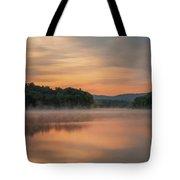 Locke Lake Sunrise Tote Bag by Sharon Seaward