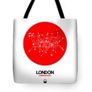 London Red Subway Map Tote Bag