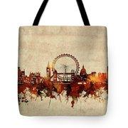 London Skyline Sepia Tote Bag