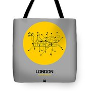 London Yellow Subway Map Tote Bag
