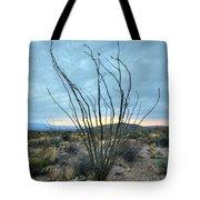 Lone Bush - Sunrise Tote Bag