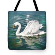 Lone Swan Lake Geneva Switzerland Tote Bag