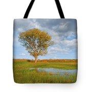 Lone Tree By A Wetland Tote Bag