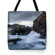 Long Exposure At The Water Tote Bag