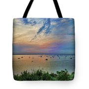 Long Island Sound From Glen Cove Tote Bag by Jeff Breiman