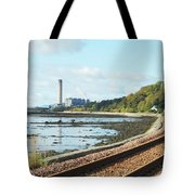 Longgannet Power Station And Railway Tote Bag