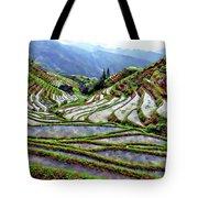 Lonji Rice Terraces Tote Bag