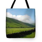 looking down Ettrick valley in Selkirkshire in summer Tote Bag