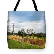 Looking Down The Union Line Tote Bag
