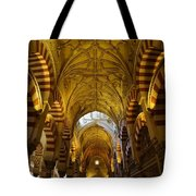 Looking Up Within The Cordoba Mezquita Tote Bag