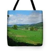 looking westwards in Tweed valley Tote Bag