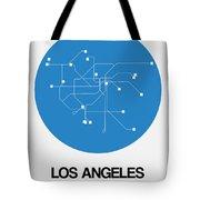 San Francisco Blue Subway Map Tote Bag