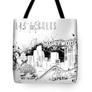 Los Angeles Skyline Panorama White Tote Bag