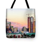 Los Angeles Skyline Sunset - Panorama Tote Bag