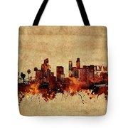 Los Angeles Skyline Vintage Tote Bag