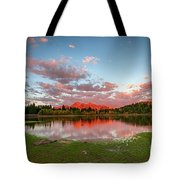 Lost Lake Sunset Tote Bag
