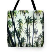 Low Angle View Of Coconut Palm Trees Tote Bag