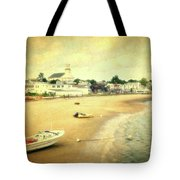 Low Tide Provincetown Cape Cod Massachusetts Shoreline Textured Tote Bag