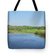 lower river Tweed near Horncliffe Tote Bag