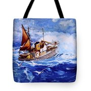 Lowestoft Trawler Tote Bag