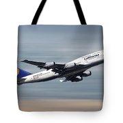 Lufthansa Boeing 747-430 Tote Bag