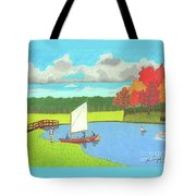 Testing The Waters Tote Bag by John Wiegand