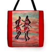 Maasai Dancers Tote Bag