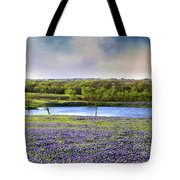 Mach Road Blubonnet Panorama In Evening Light Tote Bag