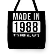 Made In 1988  Tote Bag