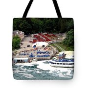 Maid Of The Mist Tour Boat At Niagara Falls Tote Bag by Rose Santuci-Sofranko