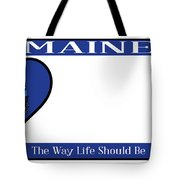 Maine State License Plate Tote Bag
