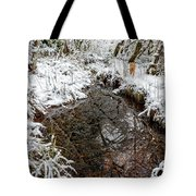Maisie At The Pond - Winter Tote Bag by Belinda Greb