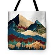 Malachite Mountains Tote Bag