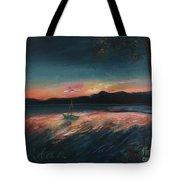Malletts Bay Sunrise Colchester Vermont Tote Bag