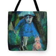Man In A Park With A Baby Tote Bag