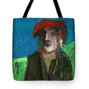 Man In A Red Hat Tote Bag