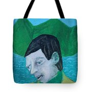Man Leaving An Island Tote Bag