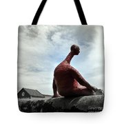 Man On The Wall Tote Bag