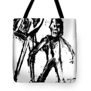 Man Standing With A Bird Tote Bag