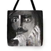 Man With A Handlebar Moustache Tote Bag