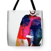 Man With No Name Watercolor Tote Bag