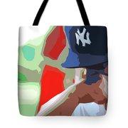 Man With Yankees Cap Tote Bag