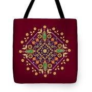 Mandala Flowering Series#2. Terracotta Tote Bag