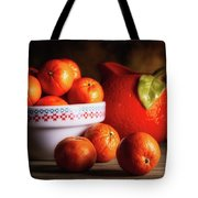 Mandarin Oranges And Orange Shaped Pitcher Tote Bag